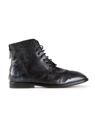 Marsell Lace Up Back Zip Boot Black