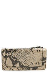 Women's Halogen Continental Wallet Black Snake