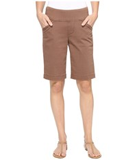 Jag Jeans Ainsley Bermuda Classic Fit Bay Twill Birds Nest Women's Shorts Brown