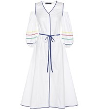 Anna October Trimmed Cotton Dress White