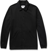 Reigning Champ Loopback Cotton Jersey Coach Jacket Black