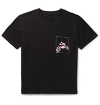 Rta Printed Cotton Jersey T Shirt Black