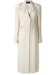 Yang Li Long Lightweight Coat Nude And Neutrals