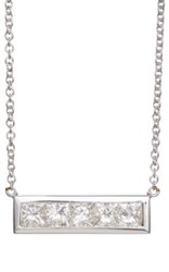 Jennifer Meyer Women's Horizontal Bar Pendant Necklace Gold