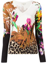 Etro Floral Print Knitted T Shirt