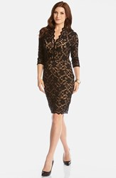 Women's Karen Kane Scalloped Lace V Neck Dress