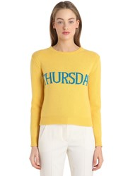 Alberta Ferretti Thursday Wool And Cashmere Knit Sweater