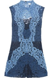 Sandro Cutout Corded Lace Playsuit Blue