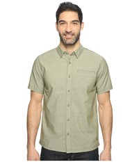Smartwool Summit County Chambray Short Sleeve Light Loden Men's Short Sleeve Button Up Olive