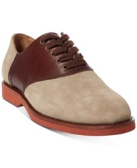 Polo Ralph Lauren Men's Orval Buck Oxfords Men's Shoes Milkshake Brown