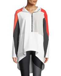 Under Armour Unstoppable Woven Colorblock Anorak Jacket White Red