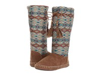Mandf Western Kristen Brown Turquoise Boots