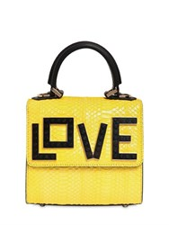 Les Petits Joueurs Micro Alex Love Water Snake Leather Bag