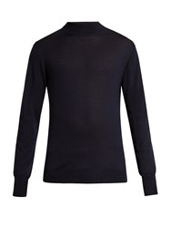 Editions M.R High Neck Wool Sweater Navy