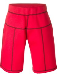 Christopher Kane Stitched Seam Track Pants Red