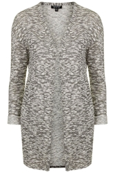 Topshop Space Dye Cardigan Grey Marl
