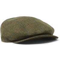 Musto Shooting Calder Technical Tweed Flat Cap Green