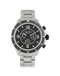 Nautica Silver Tone Stainless Steel Men's Bracelet Watch