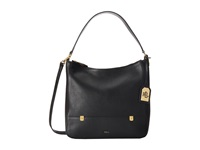 Lauren Ralph Lauren Morrison Double Zip Hobo Black Hobo Handbags