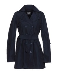 313 Tre Uno Tre Overcoats Dark Blue