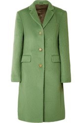Acne Studios Onita Brushed Alpaca And Wool Blend Coat Green