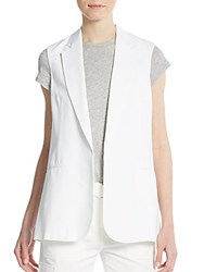 Theory Adar Open Front Vest White