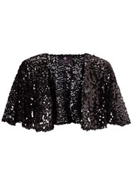 Ariella London Mimi Sequin Bolero Black