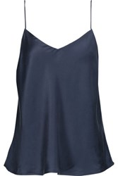 Yummie Tummie By Heather Thomson Silk Satin Camisole Midnight Blue