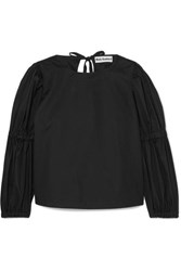 Molly Goddard Margaret Cotton Poplin Top Black