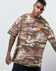 Cayler And Sons Oversized Camo T Shirt With Back Print Pink