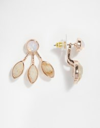 Oasis Pretty Petal Semi Precious Through And Through Earrings Multi