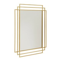 Nordal Square Mirror Gold