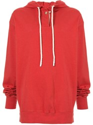 Bassike Double Jersey Hoodie Red