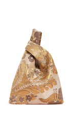Hayward Venetian Silk Jacquard Mini Shopper Gold Watercolor