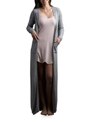 Lemon Cashmere Blend Robe Grey