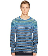 Missoni Line Sfumata Long Sleeve Sweater Blue
