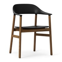 Normann Copenhagen Herit Smoked Oak Armchair Black