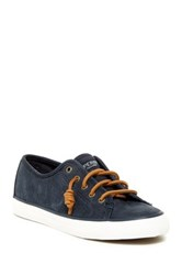 Sperry Seacoast Washed Leather Sneaker Blue