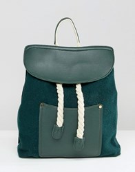 Liquorish Rope Detail Backpack Green