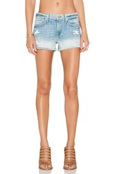 7 For All Mankind Cut Off Distressed Short Aura Blue Heritage 2