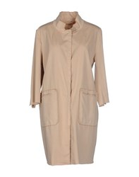 Henry Cotton's Coats And Jackets Full Length Jackets Women Beige