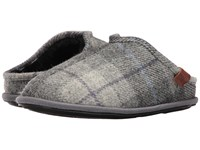 Bedroom Athletics William Harris Tweed Grey Charcoal Check Men's Slippers Grey Charcoal Check
