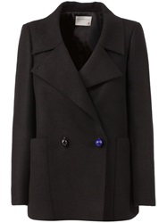 Maison Rabih Kayrouz Short Double Breasted Coat Black