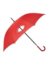 Lulu Guinness Cut Out Lips Kensington Umbrella Red