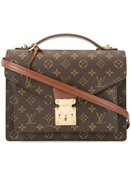 Louis Vuitton Vintage Monceau 28 2Way Hand Bag Brown