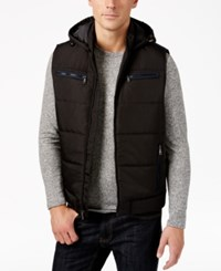 Inc International Concepts Men's Quilted Hooded Vest Only At Macy's Black