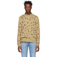 Paul Smith Ps By Tan Embroidered Sweater