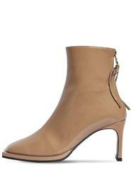 Reike Nen 80Mm Patent Leather Ankle Boots Beige