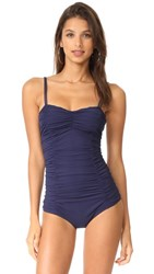 Michael Kors Collection Shirred One Piece Maritime