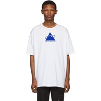 Off White And Blue Oversized Triangle Planet T Shirt